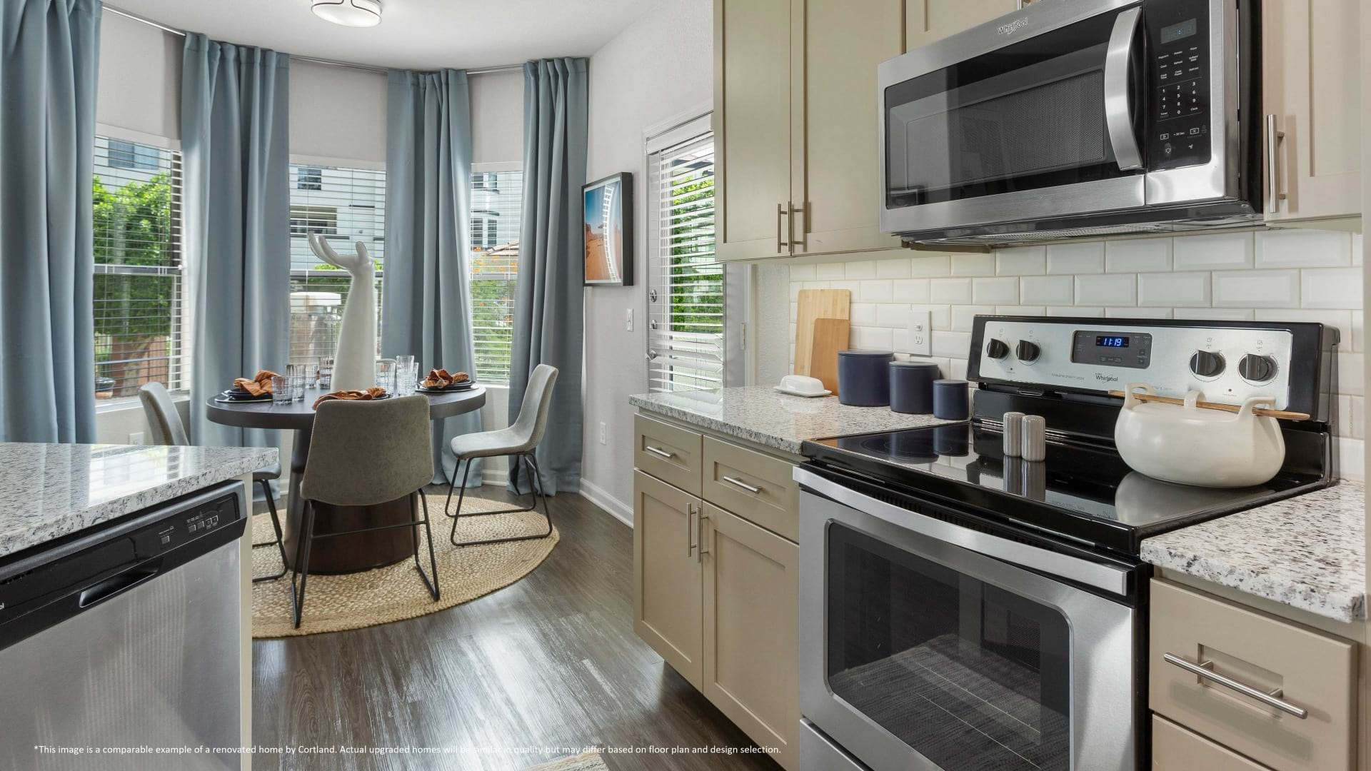 Renovated Kitchen with Wood-Style Flooring*