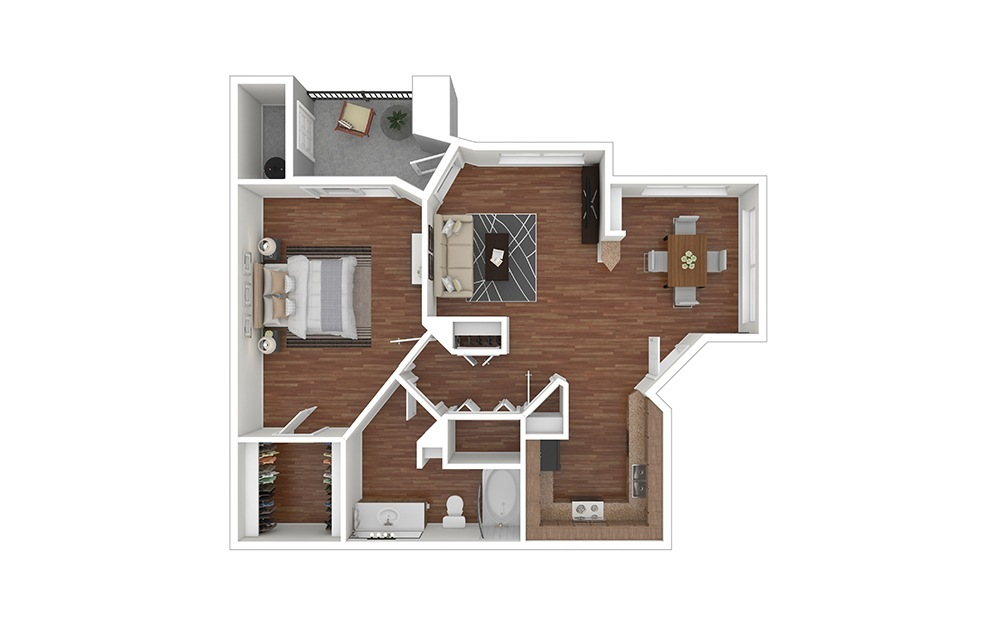 1B Classic Furnished Rendering   Raven