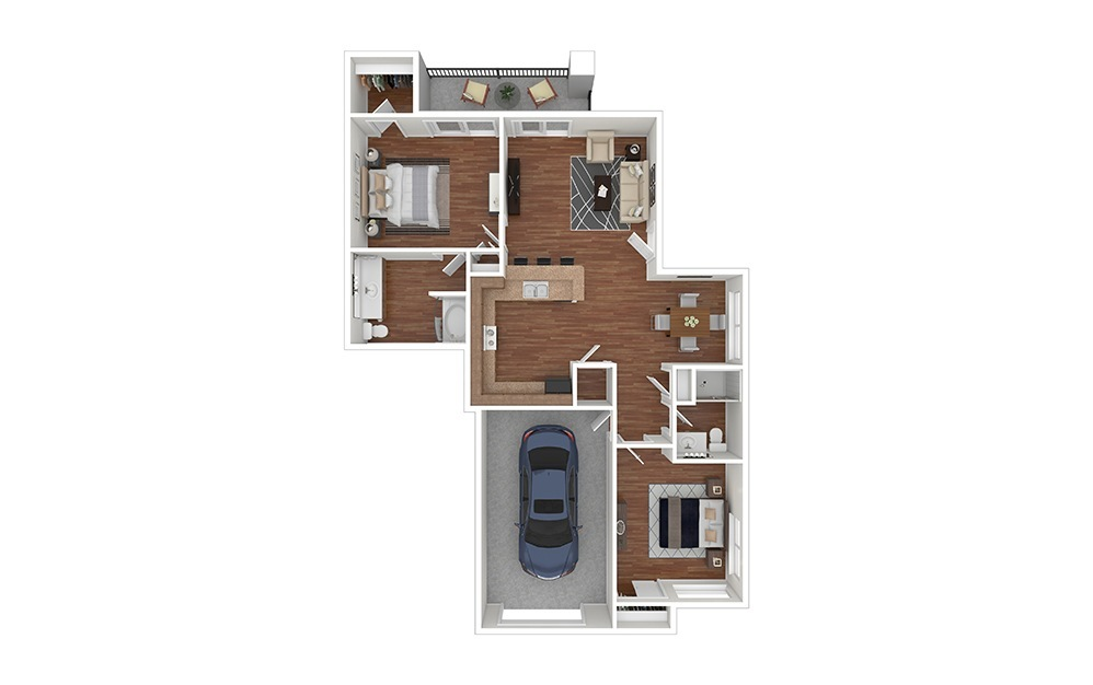 2AT Classic Furnished Rendering | Raven