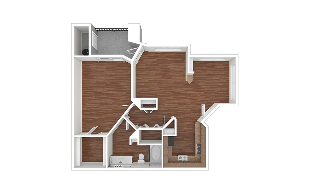 1B Classic Unfurnished Rendering   Raven