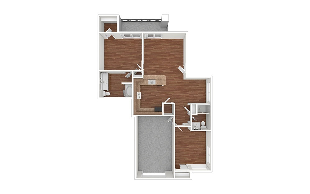 2AT Classic Unfurnished Rendering | Raven