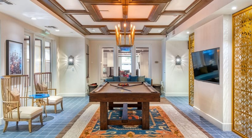 Billiards lounge at our luxury apartments in Phoenix