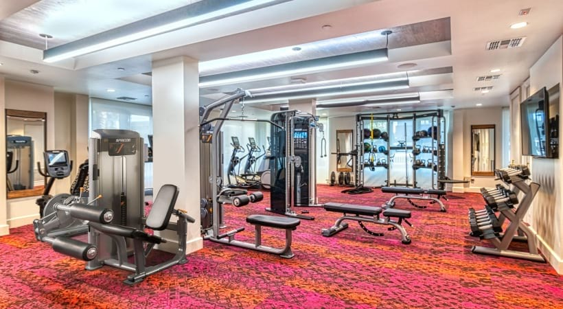 24/7 gym at our luxury apartments for rent in North Phoenix