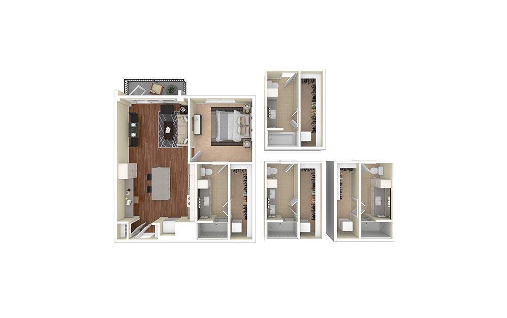 A2 Furnished Rendering   Biltmore