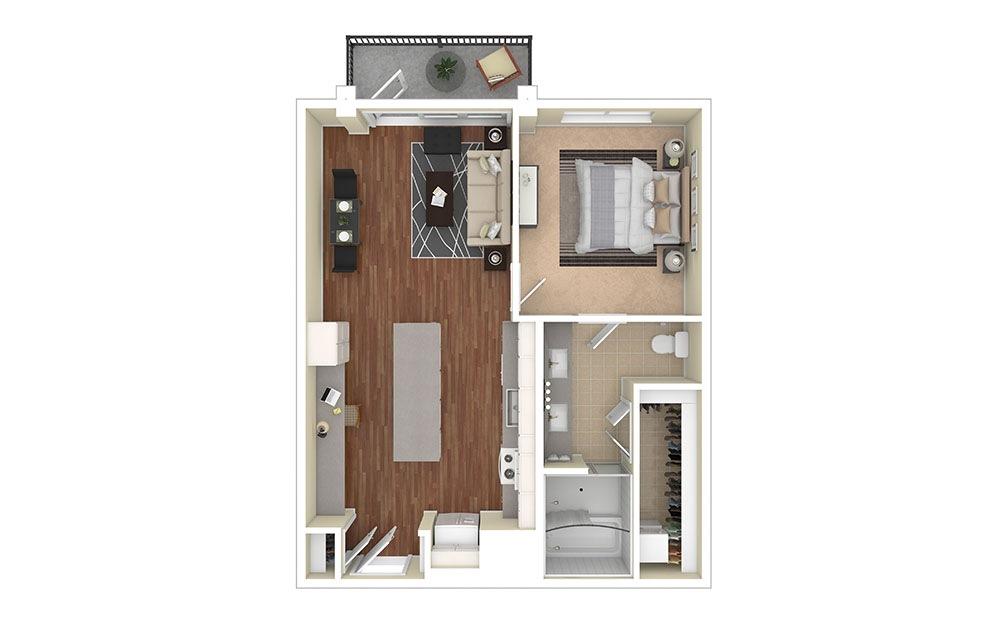 A3 Furnished Rendering | Biltmore