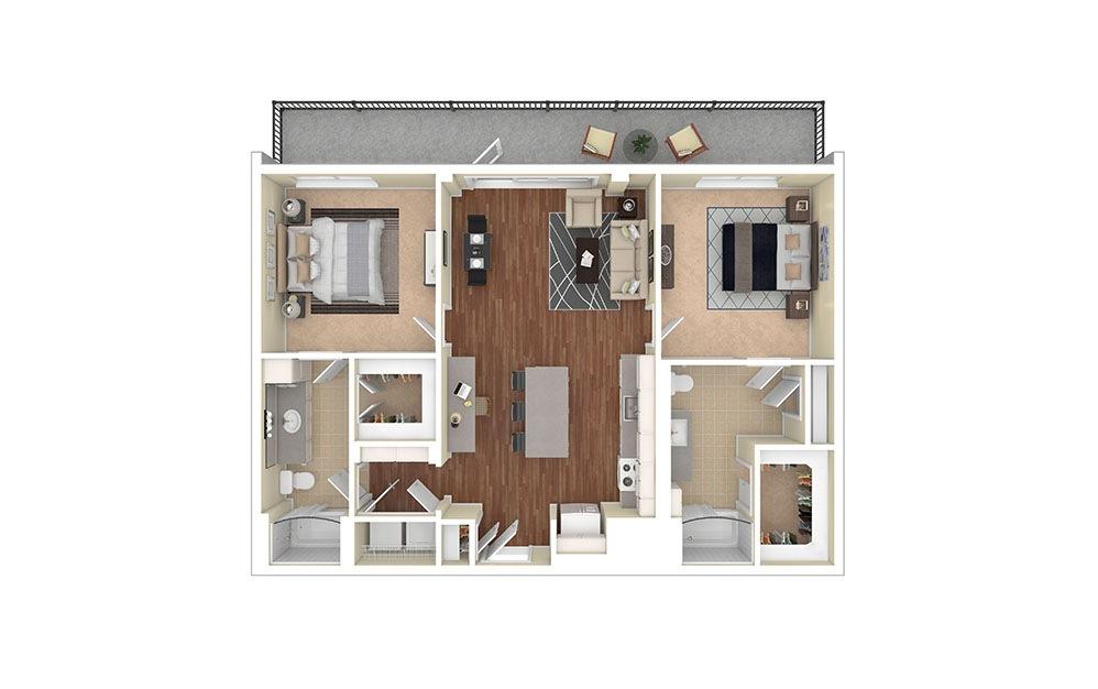 B3 Furnished Rendering | Biltmore