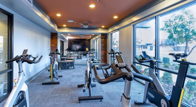 Our Fillmore apartment gym and stationary bikes