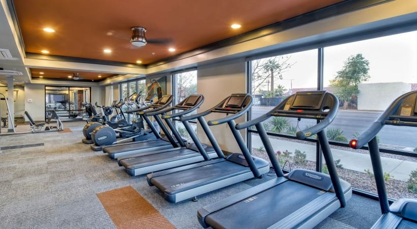 Our Phoenix apartment gym with treadmills
