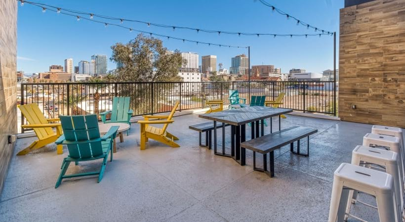 Rooftop lounge at our apartments in Downtown Phoenix, AZ