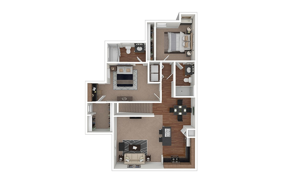 B3 Furnished Rendering | Lakemont