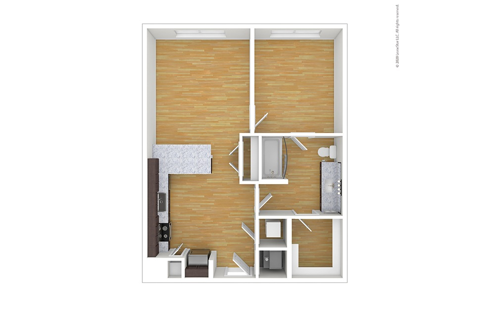 Unfurnished Ellis Floor Plan