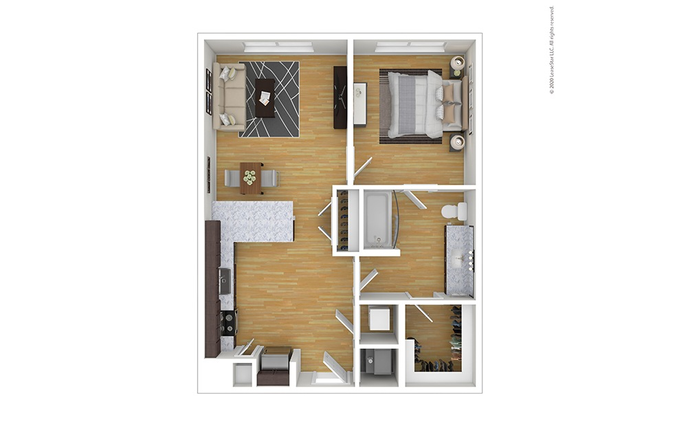 Furnished Ellis Floor Plan