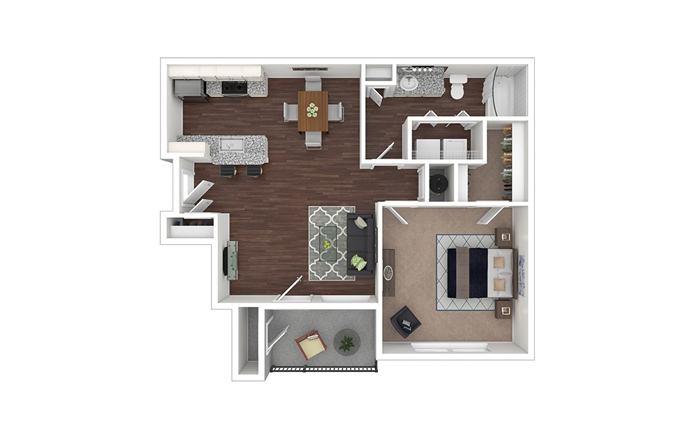 Aviation Furnished Rendering | Olde Raleigh