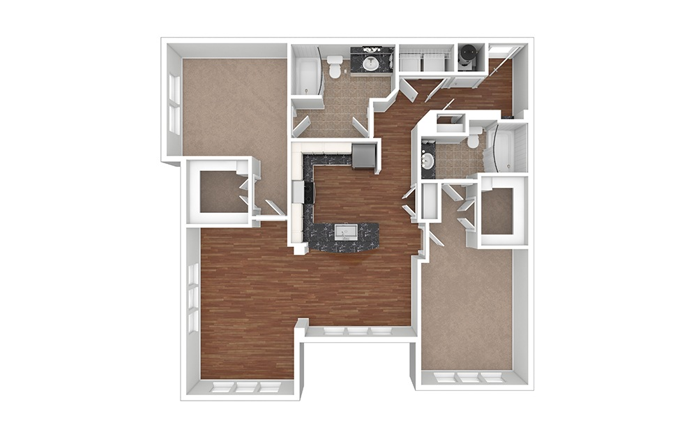 Orchid 2 Unfurnished Rendering