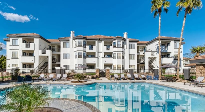Resort-style pool at our Red Mountain apartments