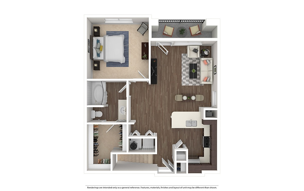 A2 Furnished Rendering | Waters Edge