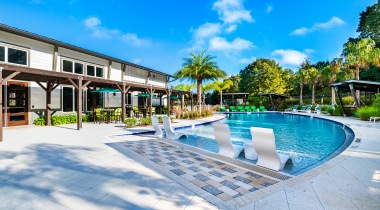 Resort style pool at apartments in Kissimmee