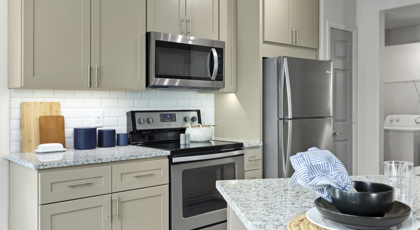 Renovated Kitchen with Energy-Efficient, Stainless Steel Appliances