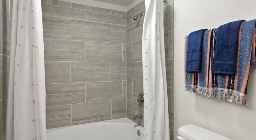 Renovated Bathroom with Designer Backsplash