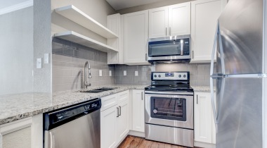 Newly Renovated Kitchens with Wood-Style Flooring