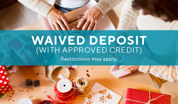 Special: $99 app/admin & waived deposit w/approved credit. All Fees waived when you move in before 12.23.19.