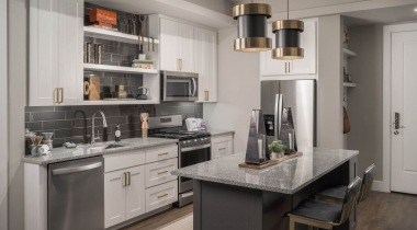Luxury apartment kitchen at Scottsdale apartments for rent