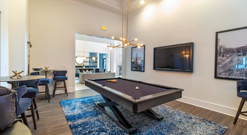 Resident Clubhouse with Billiards at Our Luxury Smyrna Apartments