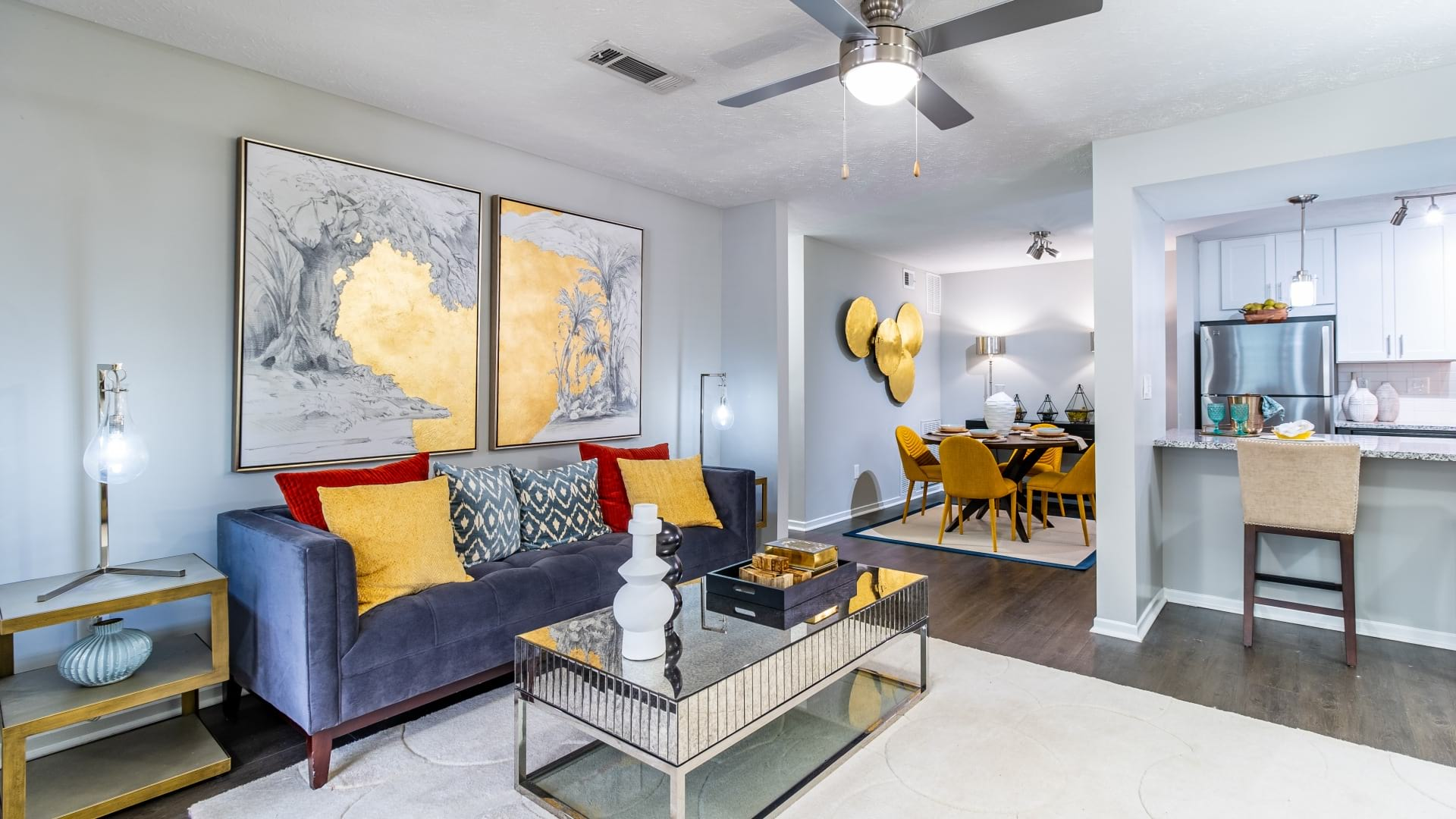 Spacious living rooms at apartments in Decatur, GA