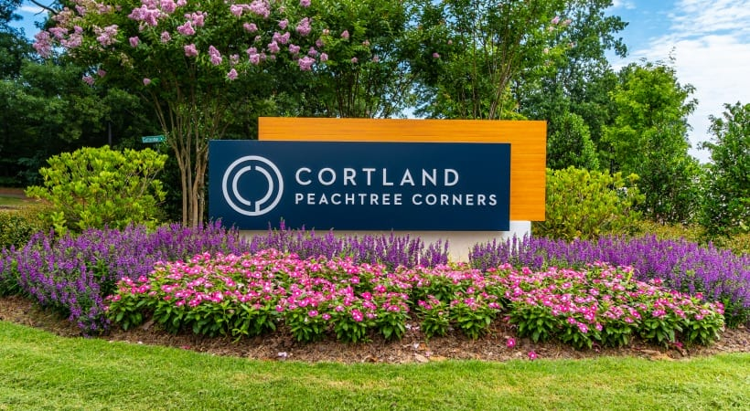 Entrance to Cortland Peachtree Corners in Norcross, GA