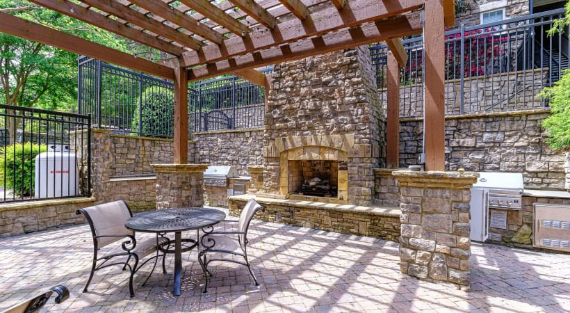Outdoor Fireplace | Oleander West