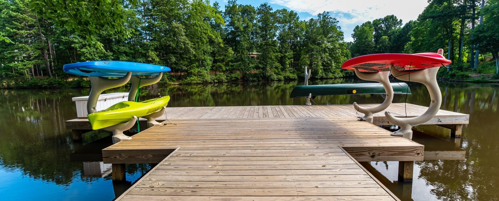 Lake dock at Cortland Peachtree Corners