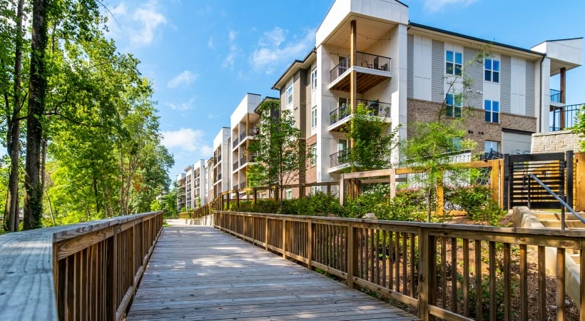 Exterior view of our apartments in Peachtree Corners, GA