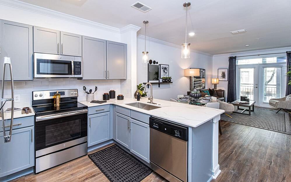 Kitchen with Modern Appliances   Oleander West