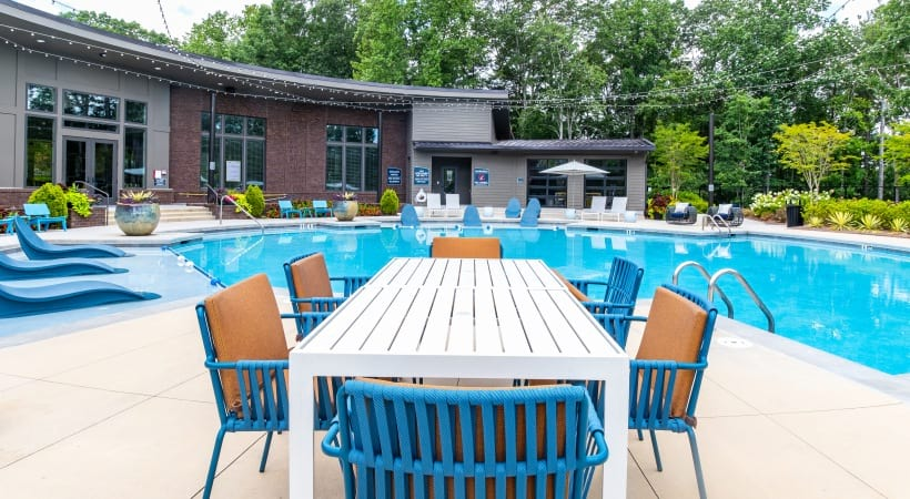 Resort-Style Pool at our apartments for rent in Peachtree Corners