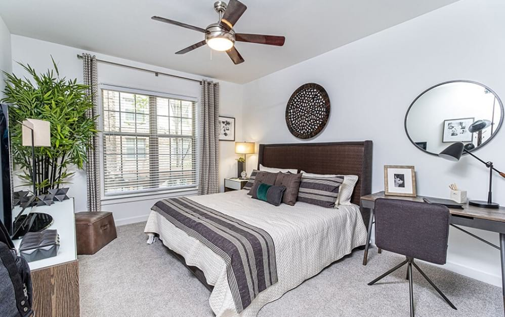 Bedroom with Overhead Fan   Oleander West