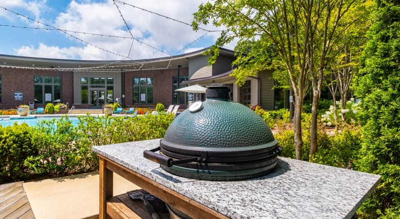 Outdoor gas grills at our Norcross, GA apartments