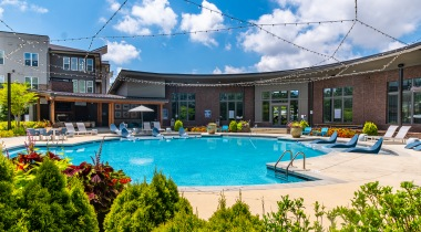 Peachtree Corners apartment complex with pool