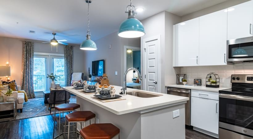 Kitchen Breakfast Bar at Our Sandy Springs Apartments