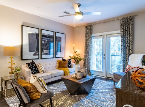Stylish Living Room at Our Brookhaven Apartments