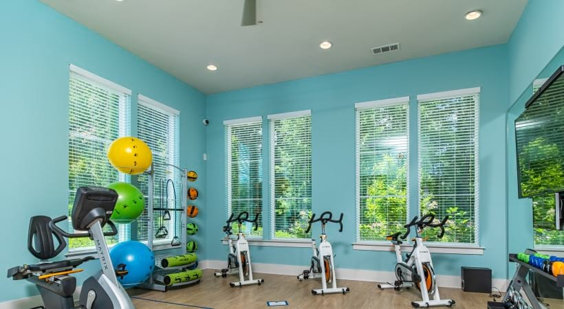 Fitness center at our apartments in Peachtree Corners, GA