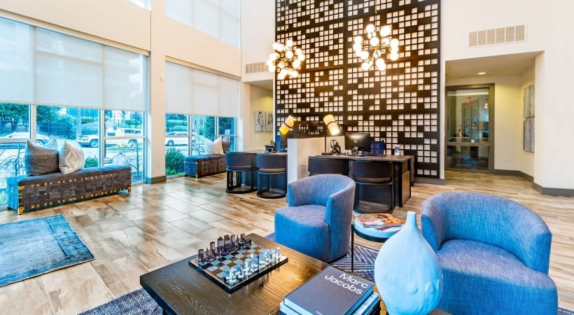 Resident clubhouse at apartments in Buckhead, GA