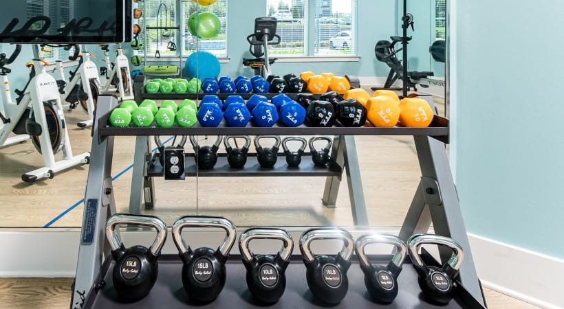 24/7 Fitness Center at our apartments near Norcross