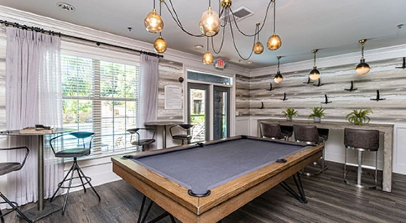 Clubhouse with Pool Table | Oleander West