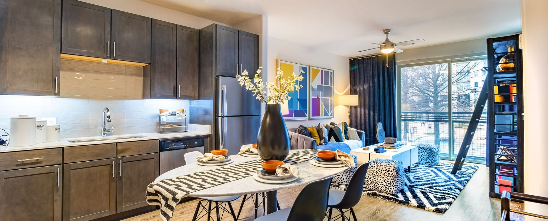 Spacious apartment floor plan at Cortland at Phipps Plaza