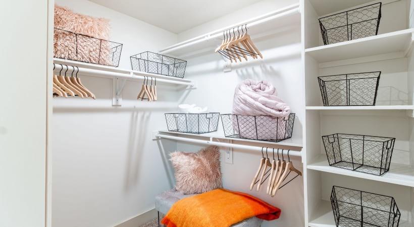Spacious Walk-In Closets