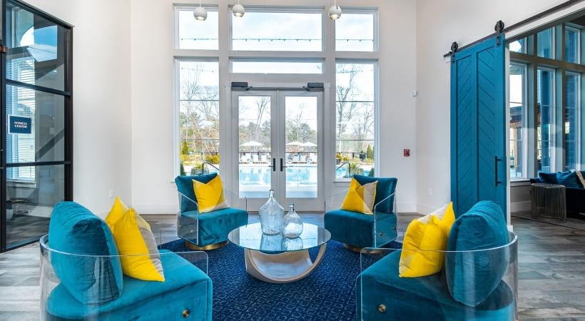 Luxury apartment clubhouse at our Norcross apartments