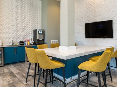 Resident Clubhouse with Starbucks® Coffee Bar