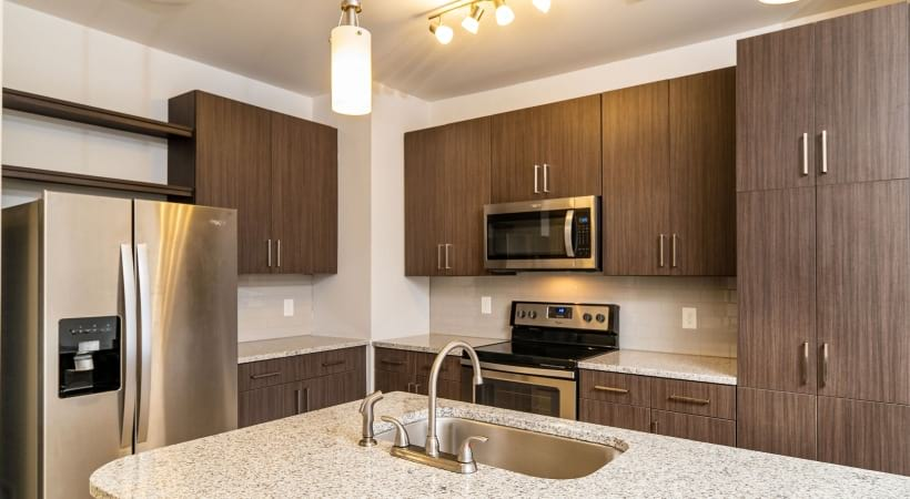 Luxury apartment kitchen at our Peachtree Corners apartments