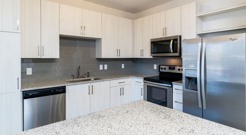 Modern apartment kitchen at Cortland Peachtree Corners