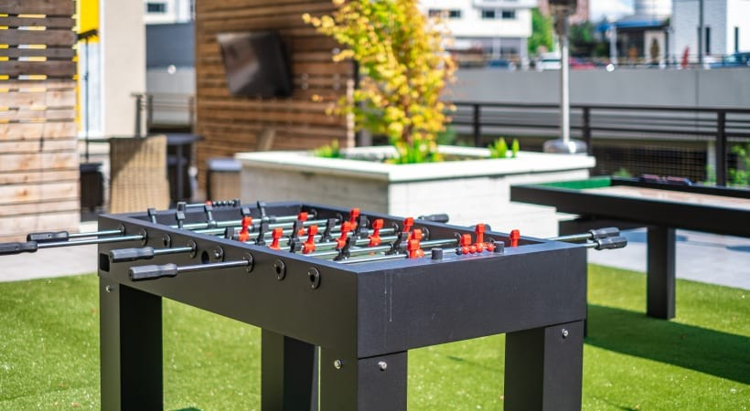 Luxury apartments with outdoor game space